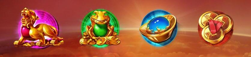 Dragon chase slot symboler