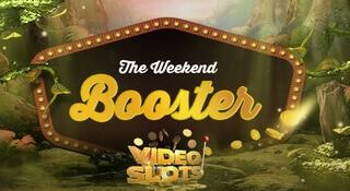 Weekend booster hos videoslots.com - få del av din vinst sparad till nästa helg.