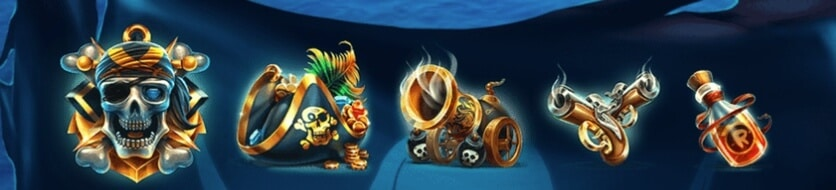symboler i Pirates Plenty