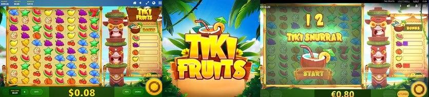 bonusspel och free spins i Tiki Fruit slot