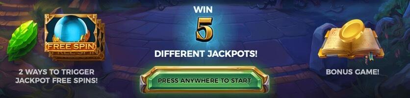 Bonus och free spins i Ozwin's Jackpots
