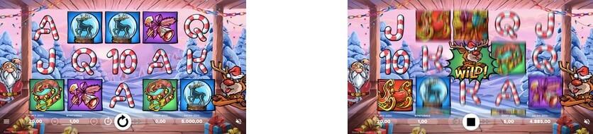 Santa VS Rudolf bonus och free spins