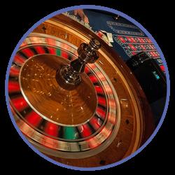 Roulettehjul och bord