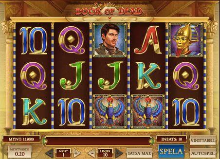 Spela Book of Dead casino spel