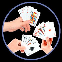 Pokerhänder har olika värde