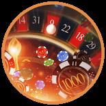 Roulette finns hos många nätcasino