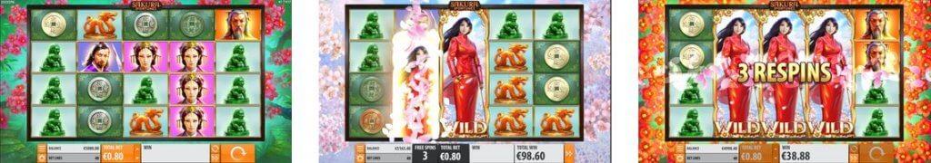Bilder från Sakura Fortune slot