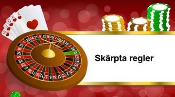 Regeringen skärper regler kring online casino