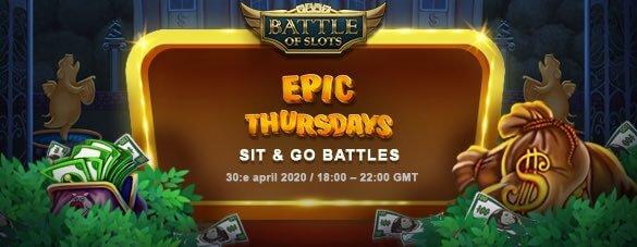Battle of Slots skylt