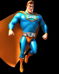 Spinfinity Man figur från betsoft slots