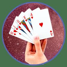 Pokerhand hos ett Caribbean Stud Poker online casino