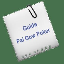 Lapp med texten Guide till Pai Gow Poker.