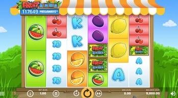 Skärmdump från Fruit Shop Megaways