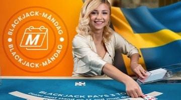 Nyhet blackjack måndagar hos betsson