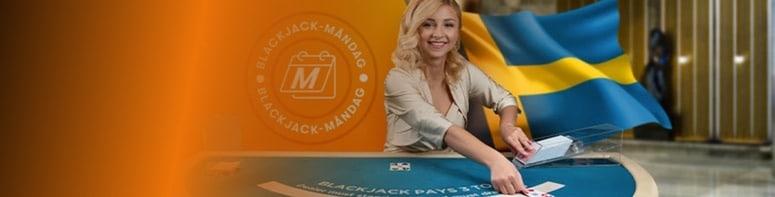 Svensk blackjack måndag hos betsson