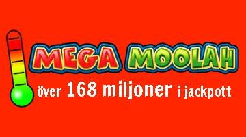 168 miljoner kr i potten på Mega Moolah