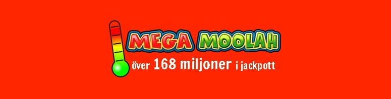 Het jackpott på Mega Moolah med 168 miljoner i potten.