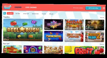 Skärmbild av TurboVegas casino spel