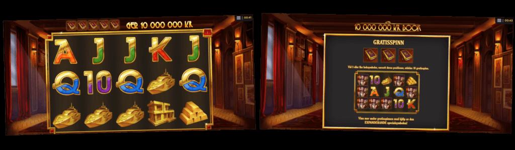 Skärmbilder från Million Book gratis demospelen