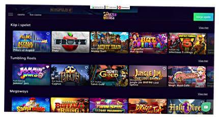 Skärmbild från Buster Banks casino