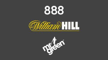 Loggor 888, William Hill och Mr Green