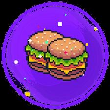Två hamburgare symboliserar att man får en pixel.bet bonus i välkomstgåva.
