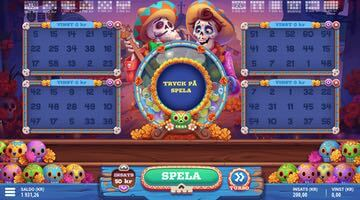 Bingobrickor i Calavera Bingo spel